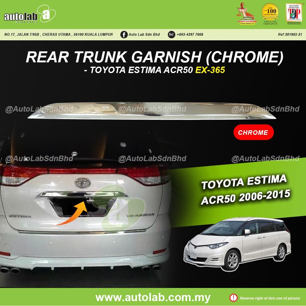 Rear Trunk Garnish (Chrome) - Toyota Estima ACR50 2005-2016