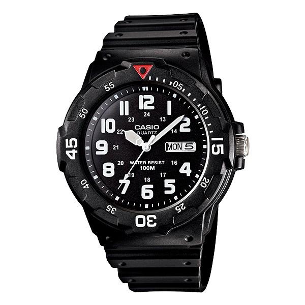 Casio Men\'s MRW200H-1B2V Black Resin Quartz Watch with Black Dial black