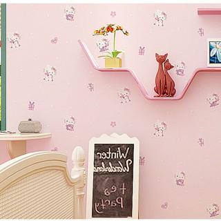 10m Wallpaper Hellokitty Wallpaper Sticker Home Wall Decor Bedroom