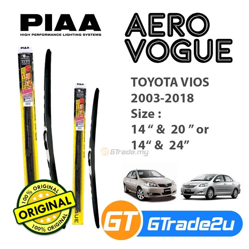 "Piaa Aero Vogue Windshield Wiper w// Silicone Blades Made in Japan 22/""//24/"" Set"
