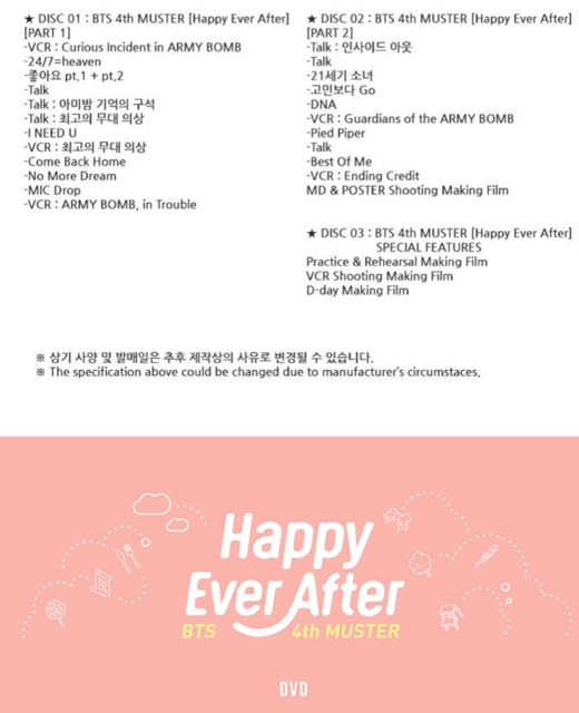 Bts 4th muster:Happy ever after   Shopee Malaysia