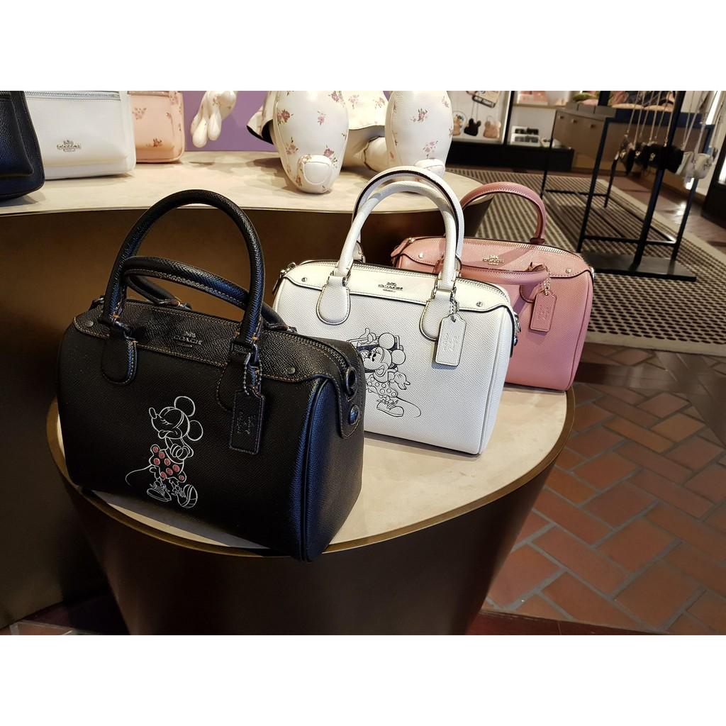 e0b74f445f8 ... wholesale coach x disney minnie mouse mini bennett bag leather black  f29356 shopee malaysia 14ac5 1eae4
