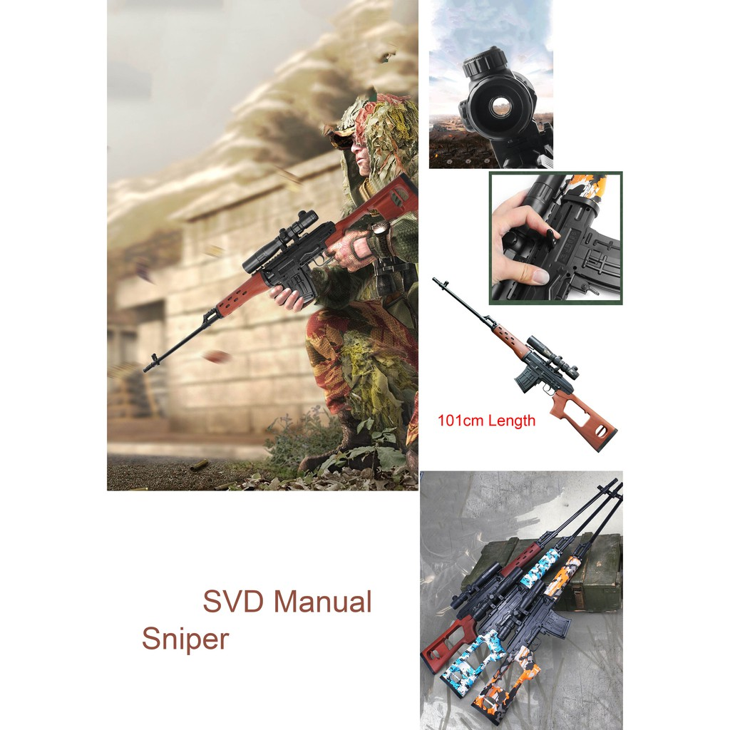 Designer Lifestyle Skd Manual Sniper Model With 10k Bullets E04 Shopee Malaysia