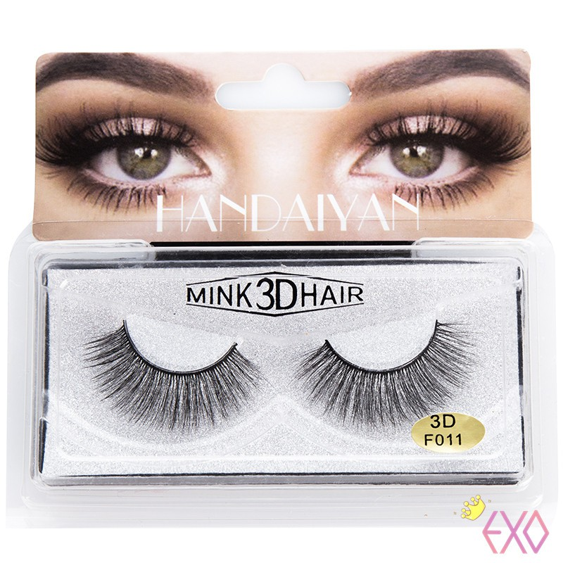 bc1729966a3 Fake Thick Natural Eye Lashes Extension Eyelashes Handmade Real Mink |  Shopee Malaysia