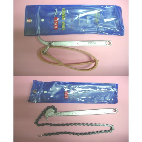 """6"""" 9"""" 12"""" KWT OIL FILTER WRENCH LEATHER TYPE CHAIN TYPE WRENCHES"""
