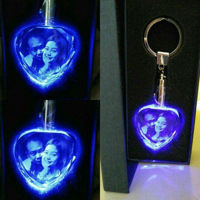 Laser Engraved Heart Shaped Crystal LED