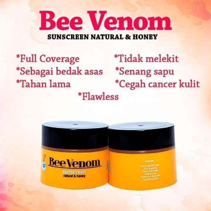 BEE VENOM SUNSCREEN 100% EXTRACT BEE VENOM ORIGINAL HQ+FREEGIFT
