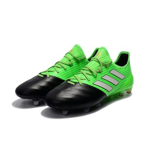 adidas ACE 17.1 Leather FG green leather mens sport soccer