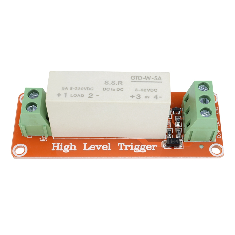 3-32V DC 1-Channel SSR Solid State Relay High-low Trigger 5A 5v 12v For Arduino
