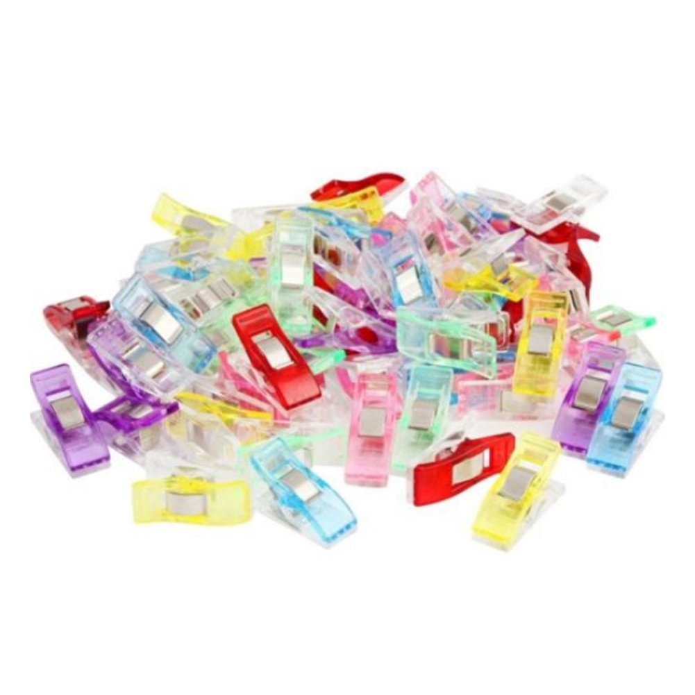 Pack of 50//100 Wonder Clips For Fabric Quilting Craft Sewing Knitting Crochet UK