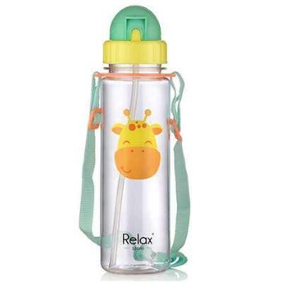 Relax: Tritan Kids Straw Water Bottle 550ml - Giraffe