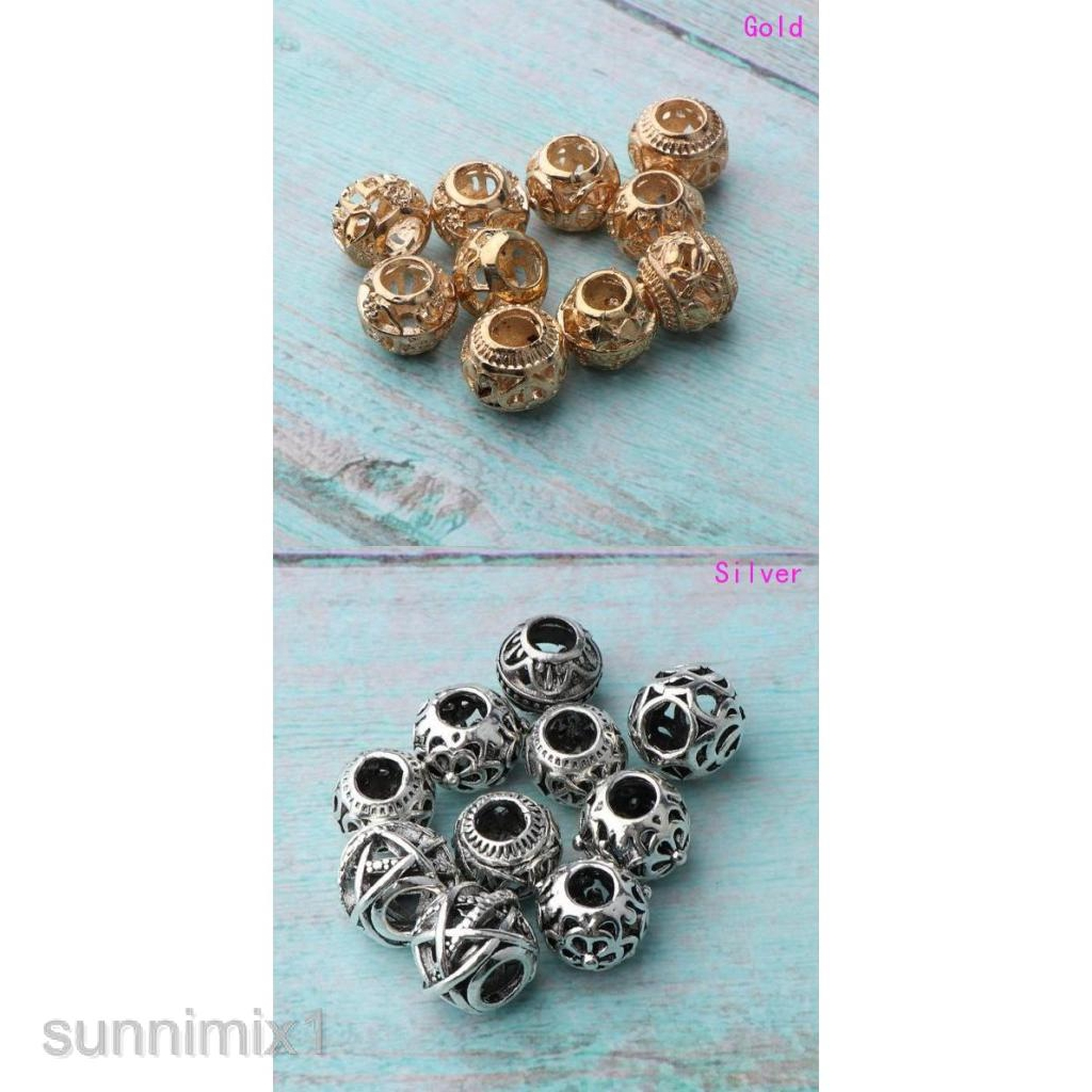 Fashion 50 Stainless Steel Smooth Spacer Beads 10x9mm
