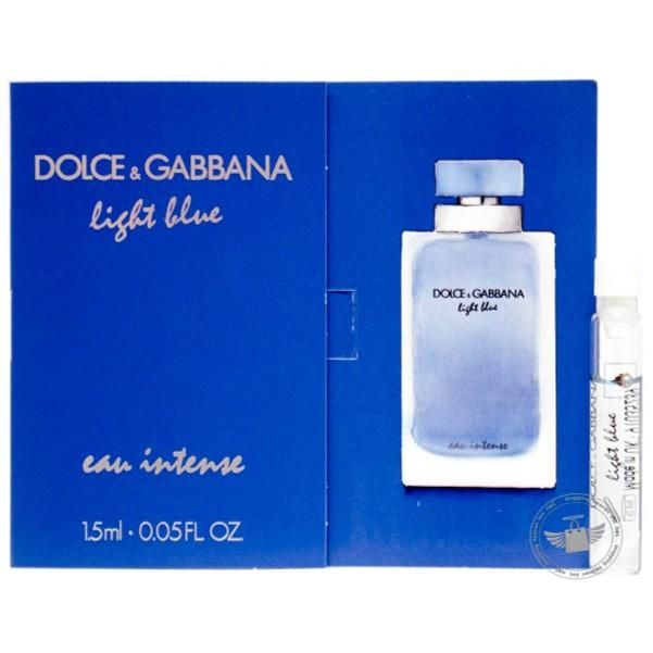 **Perfume Vials** D&G Light Blue Eau Intense For Women 1.5ml EDP Dab-On | Shopee Malaysia