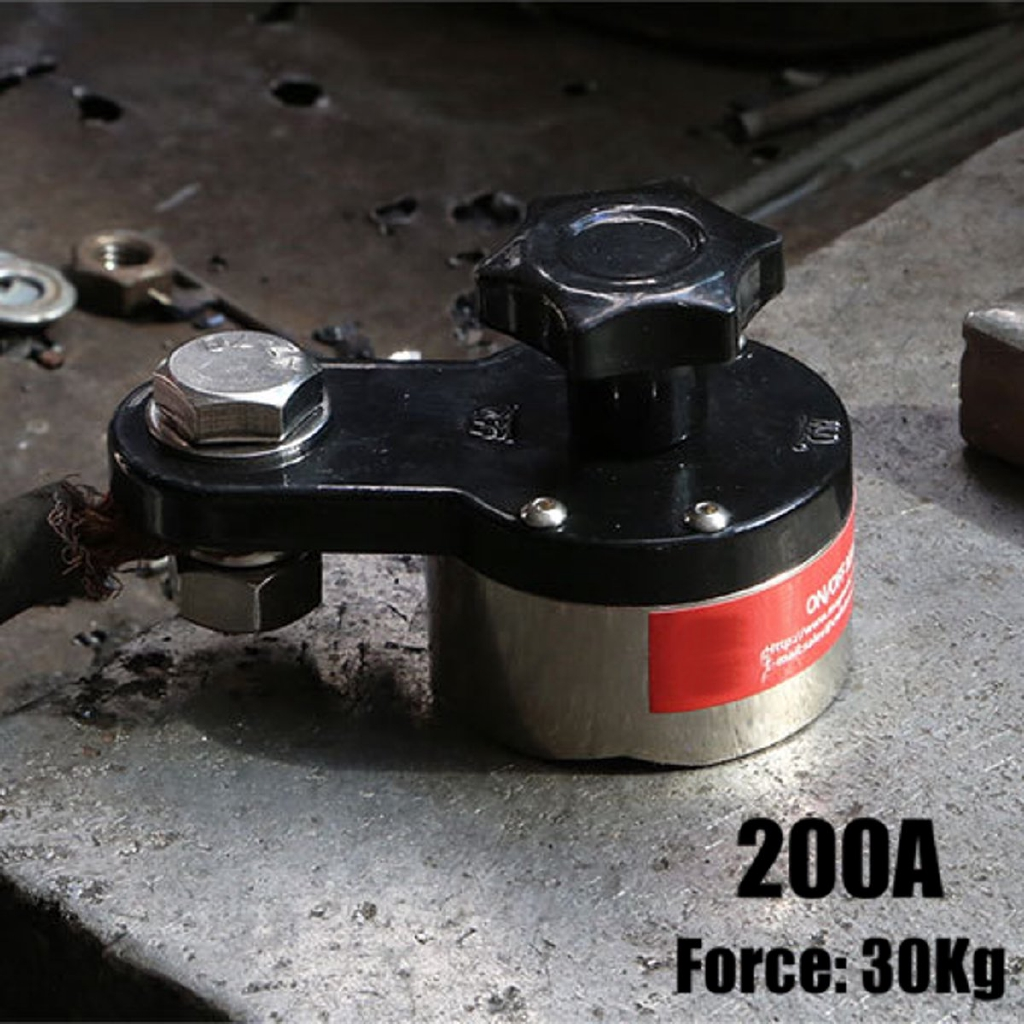 200A Magnetic Welding Ground Clamp Magnet Connector Industrial Welding Machine