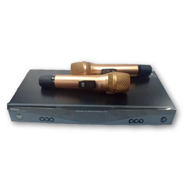 PSP UK-600 MKII FREQUENCY UHF WIRELESS MIC C/W 2PCS HANDHELD MICROPHONE