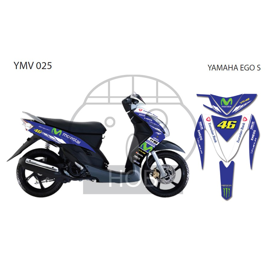 Yamaha ego s movistar sticker shopee malaysia