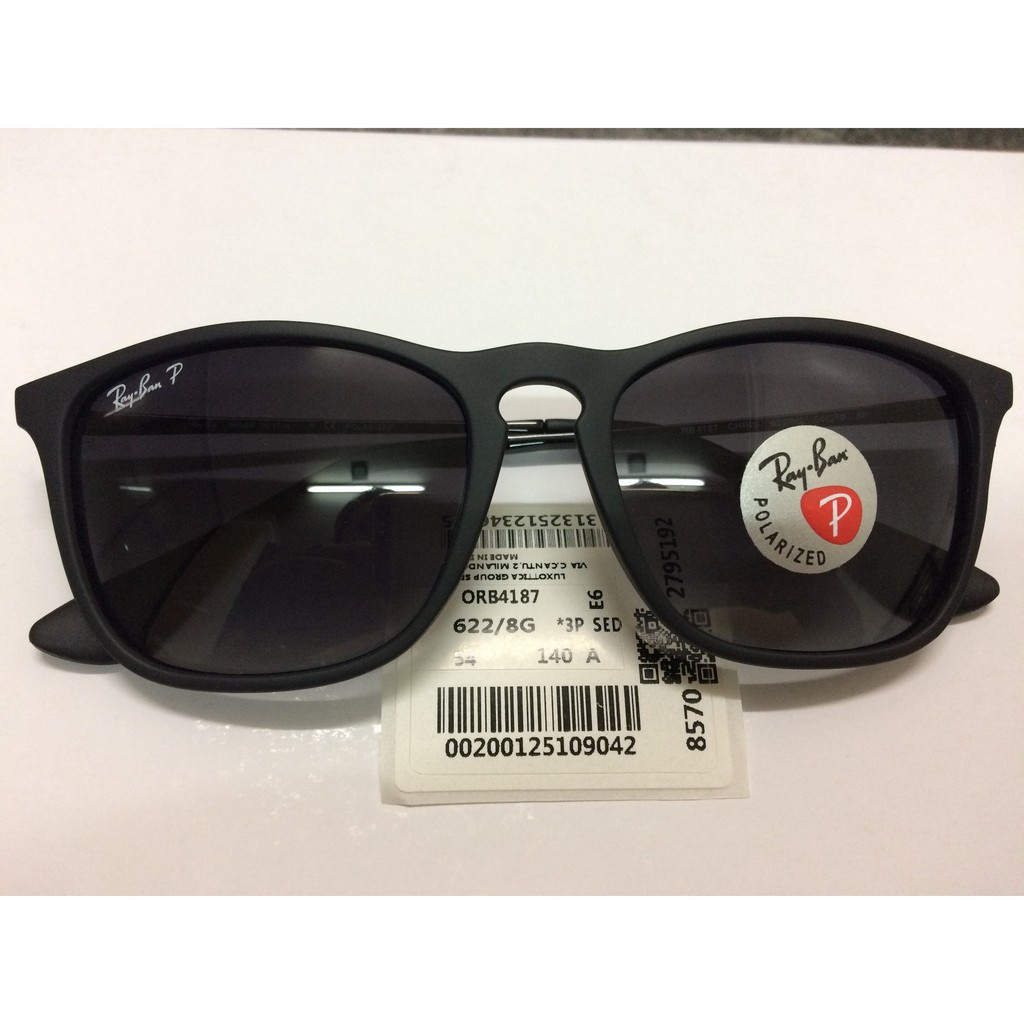 4ad5b49c32958 Authentic Ray Ban Chris RB4187 622 8G 54MM Grey Gradient Polarized Lens.