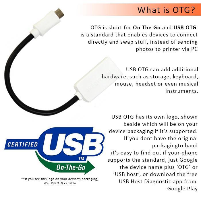 Powersync USB2.0 A Female To Micro USB OTG Cable (15cm,28AWG)