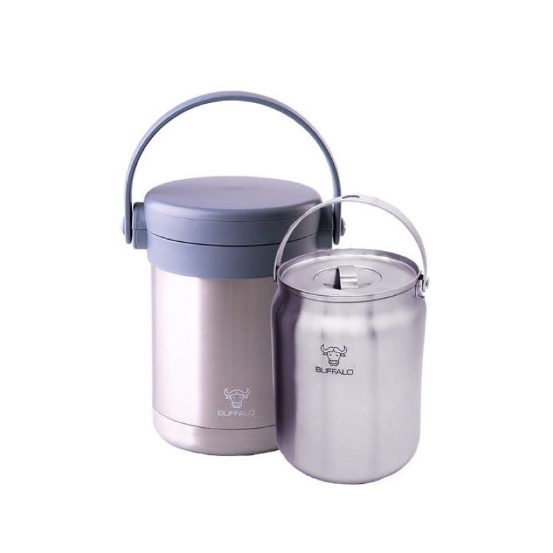 [READY STOCK] BUFFALO 3.2L THERMO CARRIER WITH2.3L INNER POT 3.2L不锈钢真空焖烧提锅