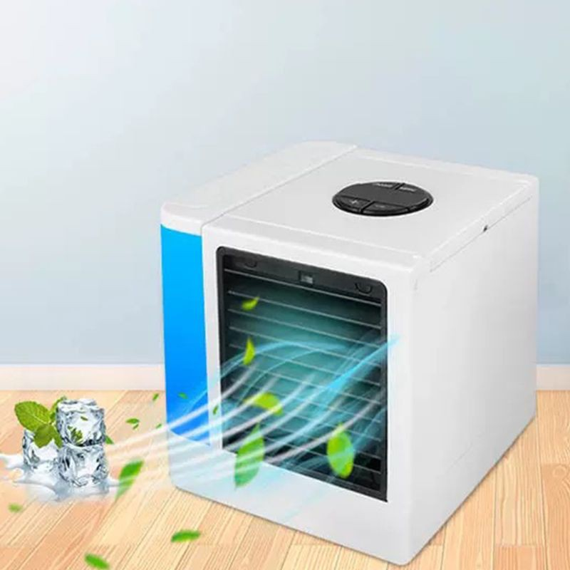 Portable USB Air Conditioner Humidifier Purifier Light Air Cooling Fan Air  Cooler for Office Home Desktop