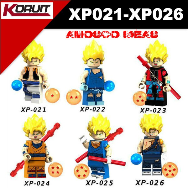 Simil LEGO Dragonball  Goku Minifigures New