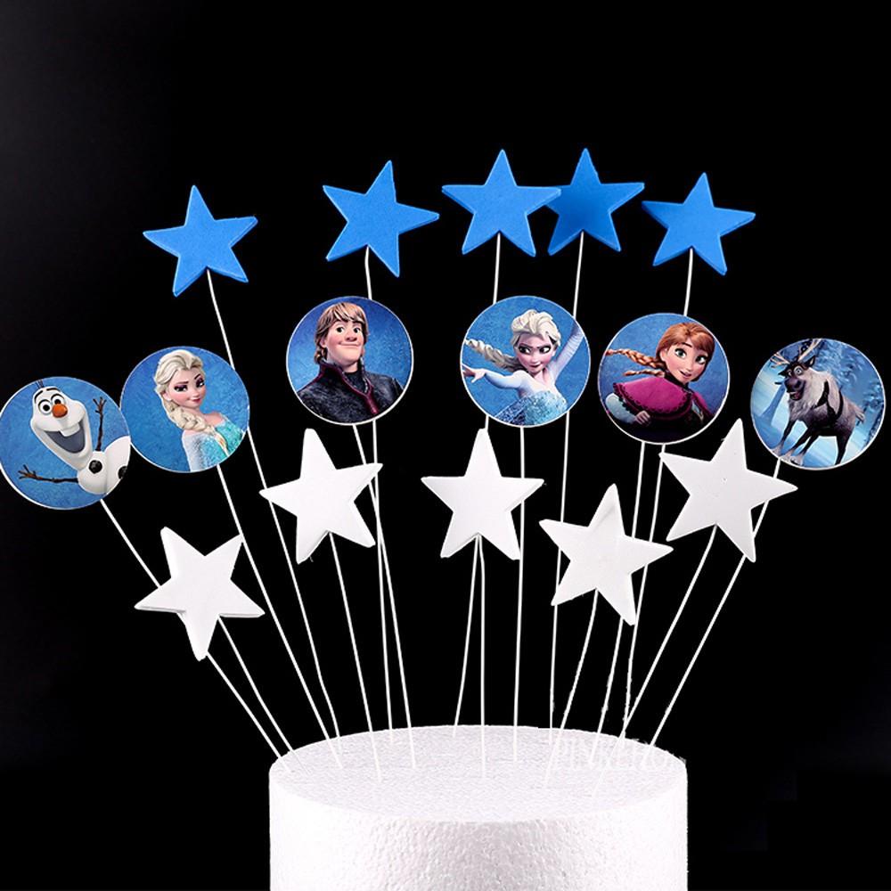 Astonishing Cake Flags Cupcake Toppers Princess Birthday Party Decorations Birthday Cards Printable Benkemecafe Filternl