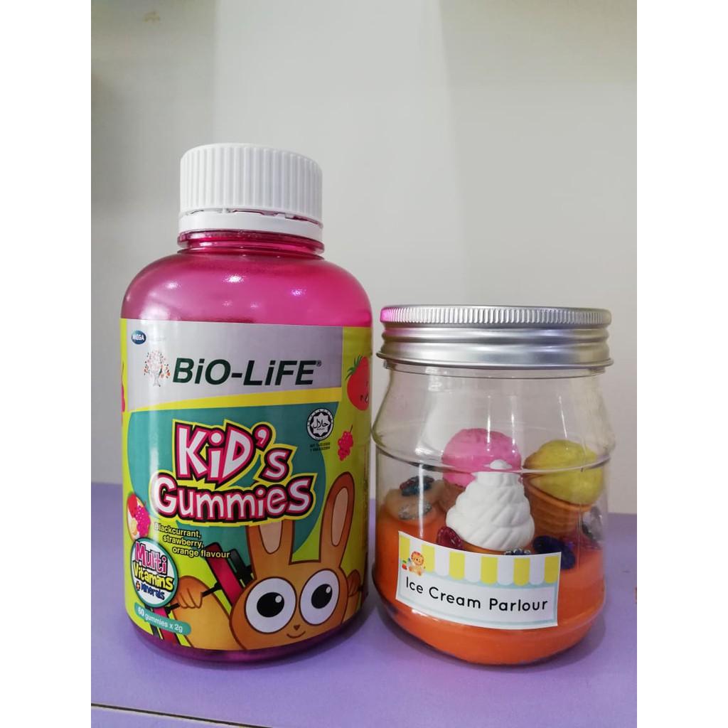 Bio-Life Kids Gummies Multivitamins & Minerals 60s + Natural Play Dough Themed Jar