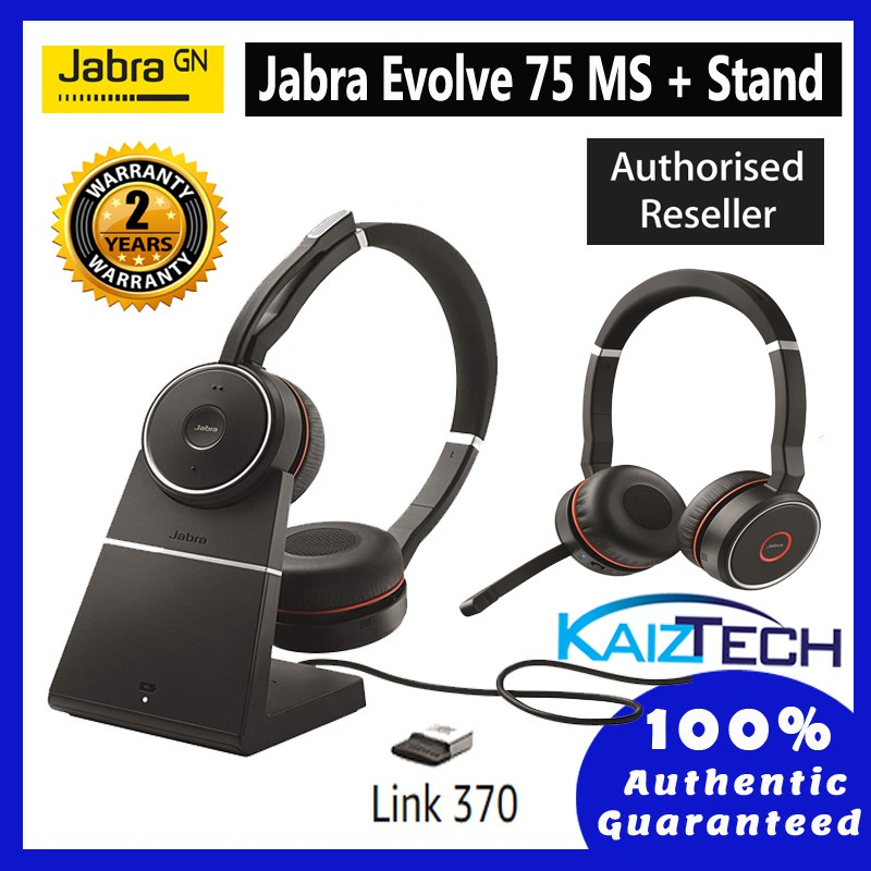 Jabra Evolve 75 Stereo Ms Include Charging Stand Link 370 Shopee Malaysia