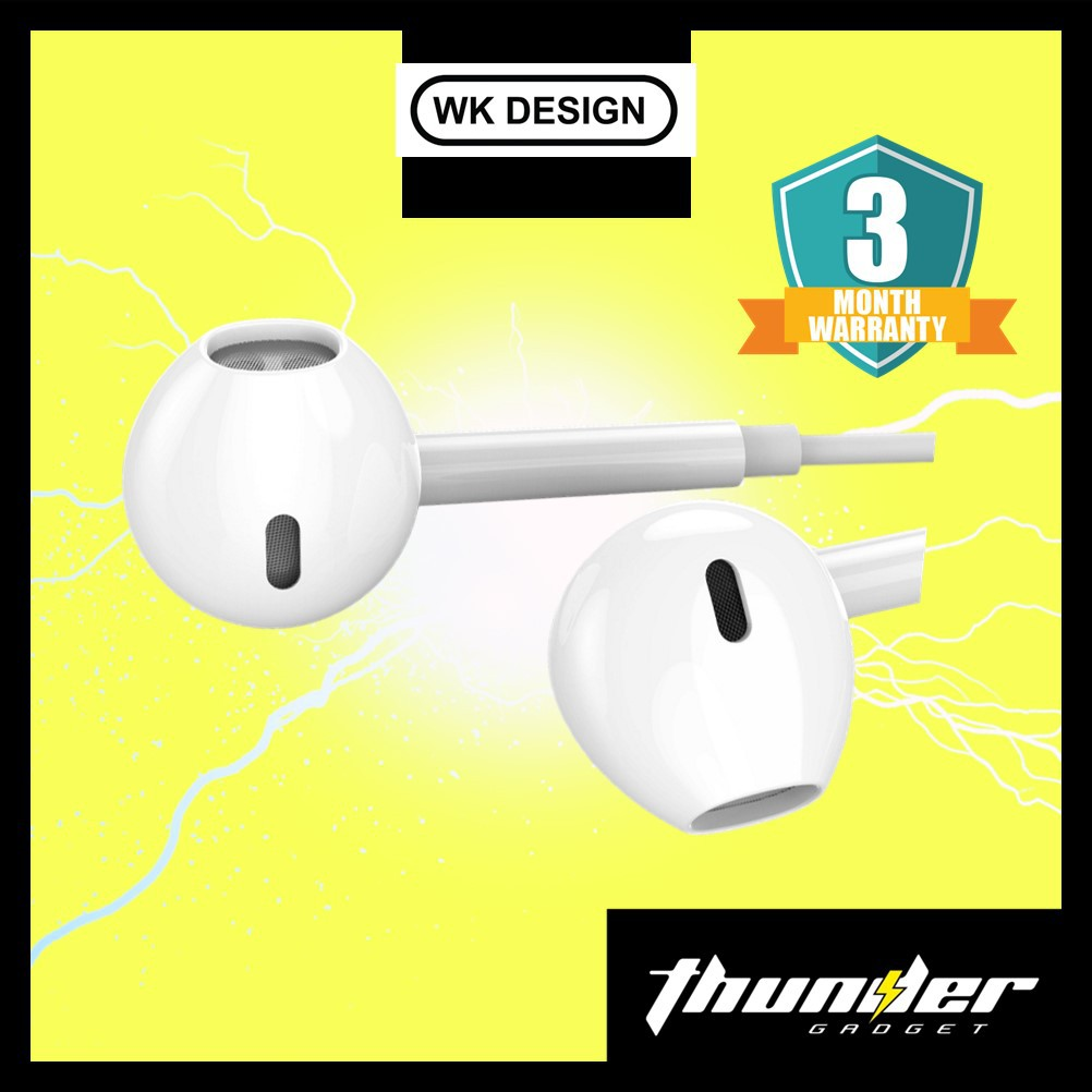 Wekome Y19 Original Automatic Pop Up Window  Wired Earphone for Iphone Lightning Handsfree