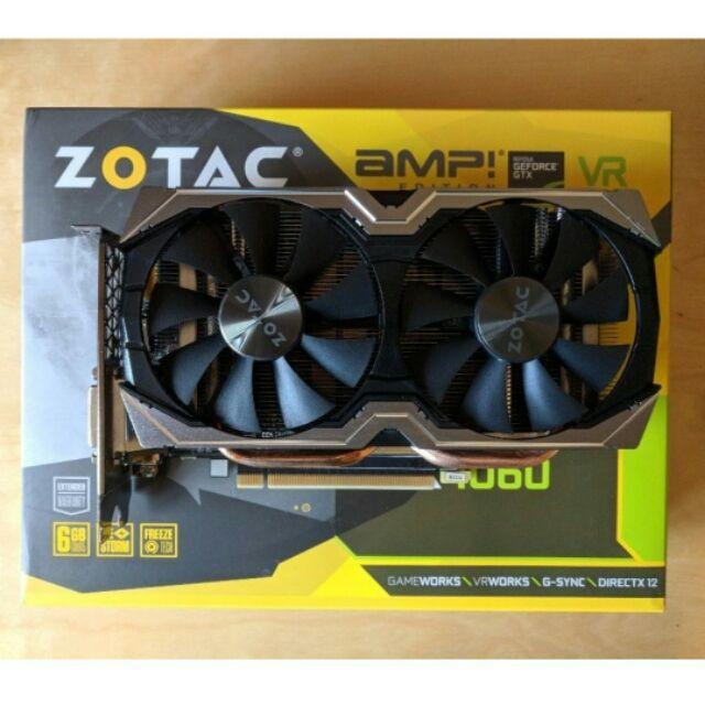 Zotac Gtx1060 6gb Amp Edition Used With Box Receipt Shopee Malaysia