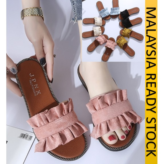 READY STOCK] PRINCESS 35-40 SELIPAR SANDAL RIBEN WANITA/ PRINCESS DRESSO WEDGE SANDALS