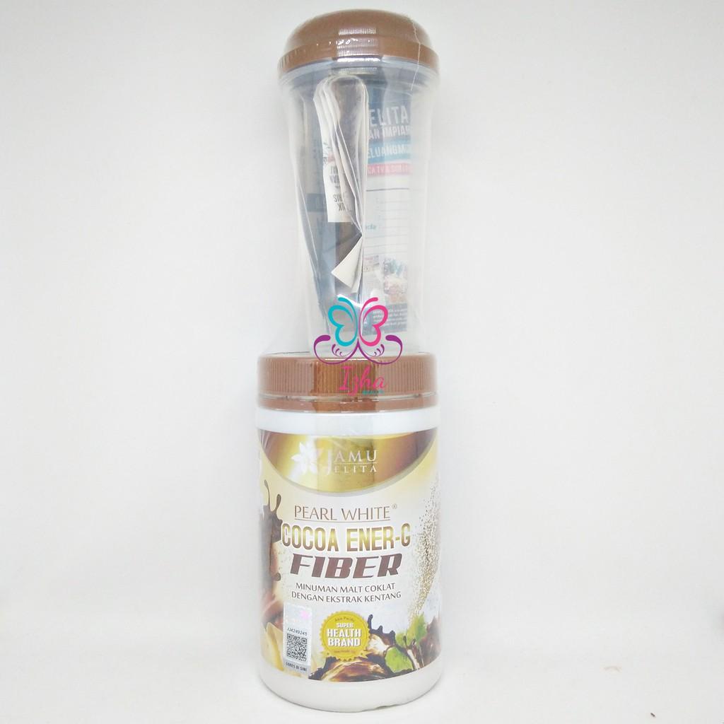 Jamu Jelita Pearl White Cocoa Ener G Fiber 400g