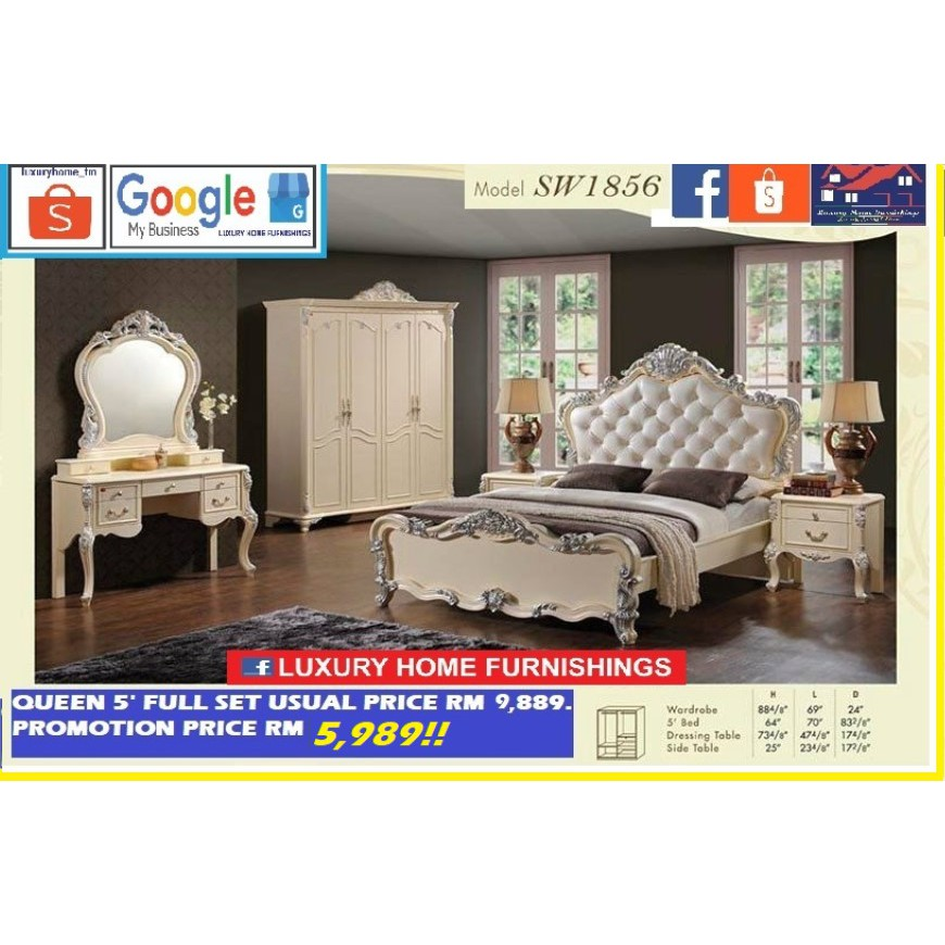 BED ROOM SET COLLECTIONS, SW 1856, CLASSICAL SERIES, EXPORT EDITION!! ON PROMOTION!!