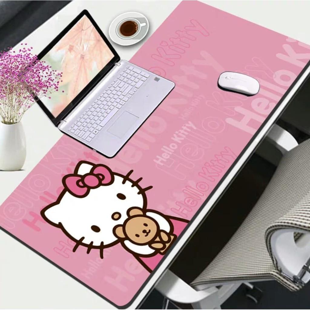 Cute Cartoon Hello Kitty Doraemon Mousepad Large Mouse Pad Multi Functional Desktop Table Keyboard Office Home Desk Pad