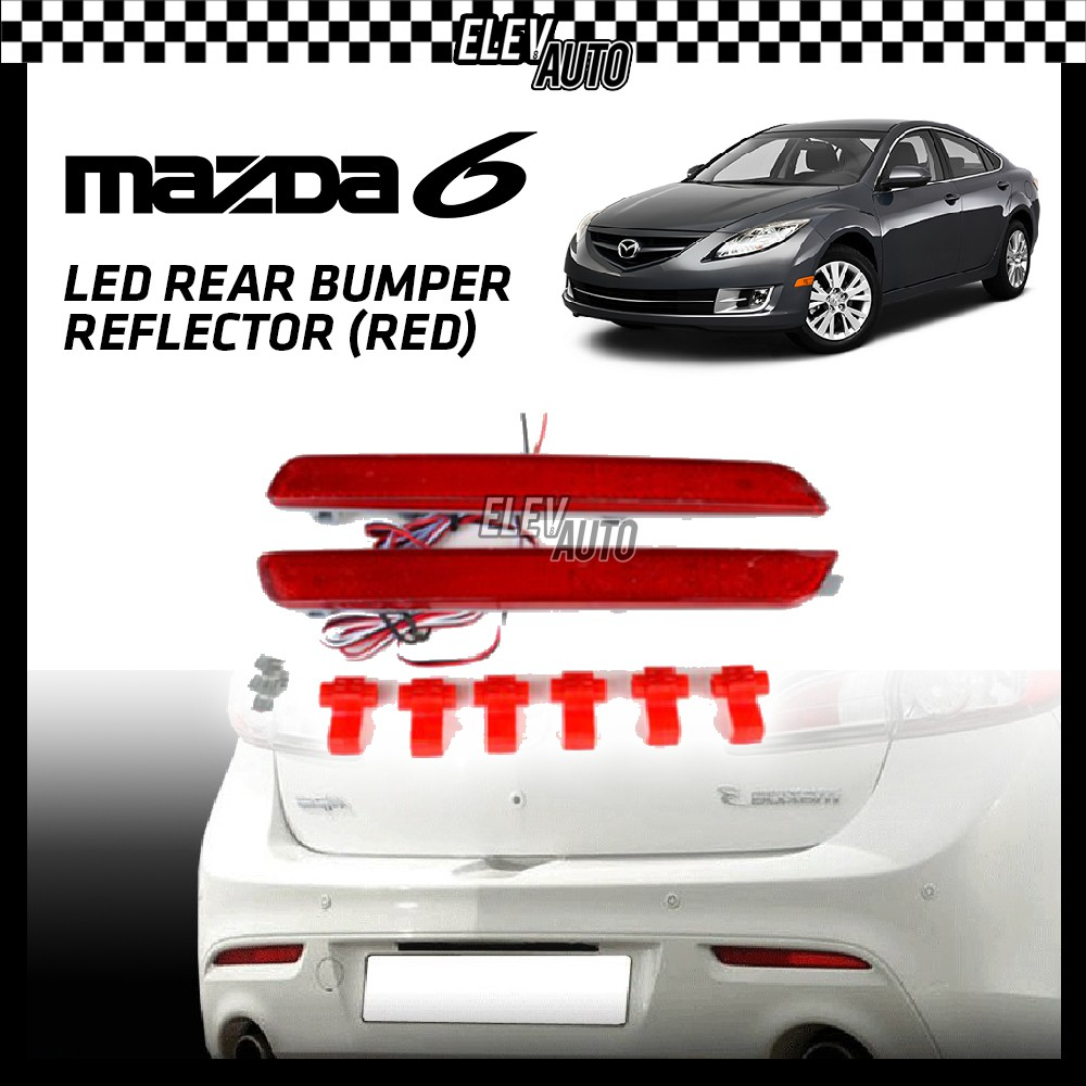SAXO LED Rear Bumper Reflector (Red) Mazda 6