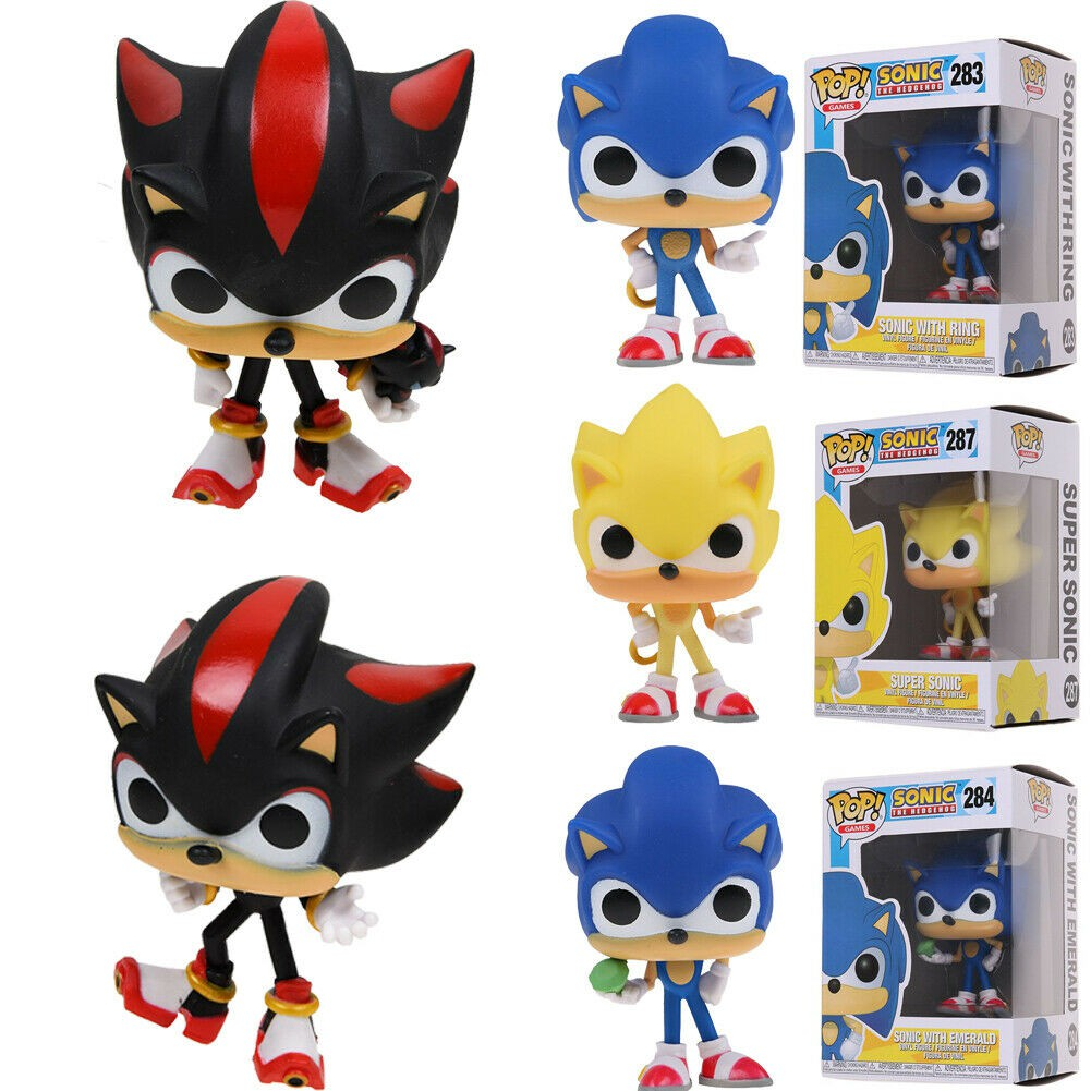 Funko Pop Games Sonic The Hedgehog Sonic With Emerald Shadow Vinyl Figures Shopee Malaysia