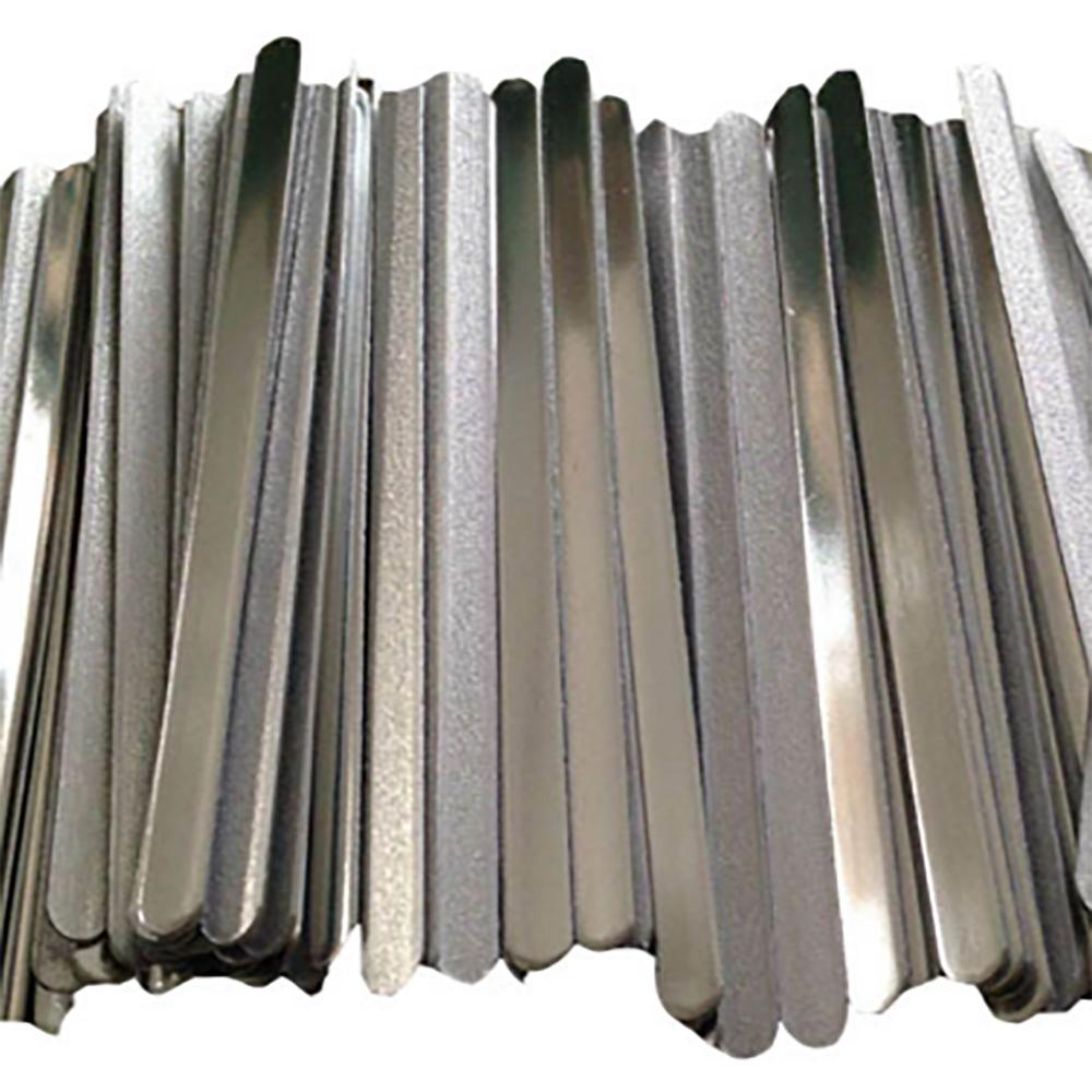 50 pcs//Pack Aluminum Strips Straps Nose Bridge Strip for DIY Handmade Crafting Making Nose Bridge Clip 200