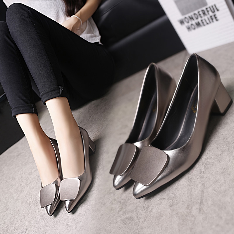 exquisite style presenting price reduced Women Shoes】 Plus Size Women Pointed Toe Med Heels Fashion OL ...