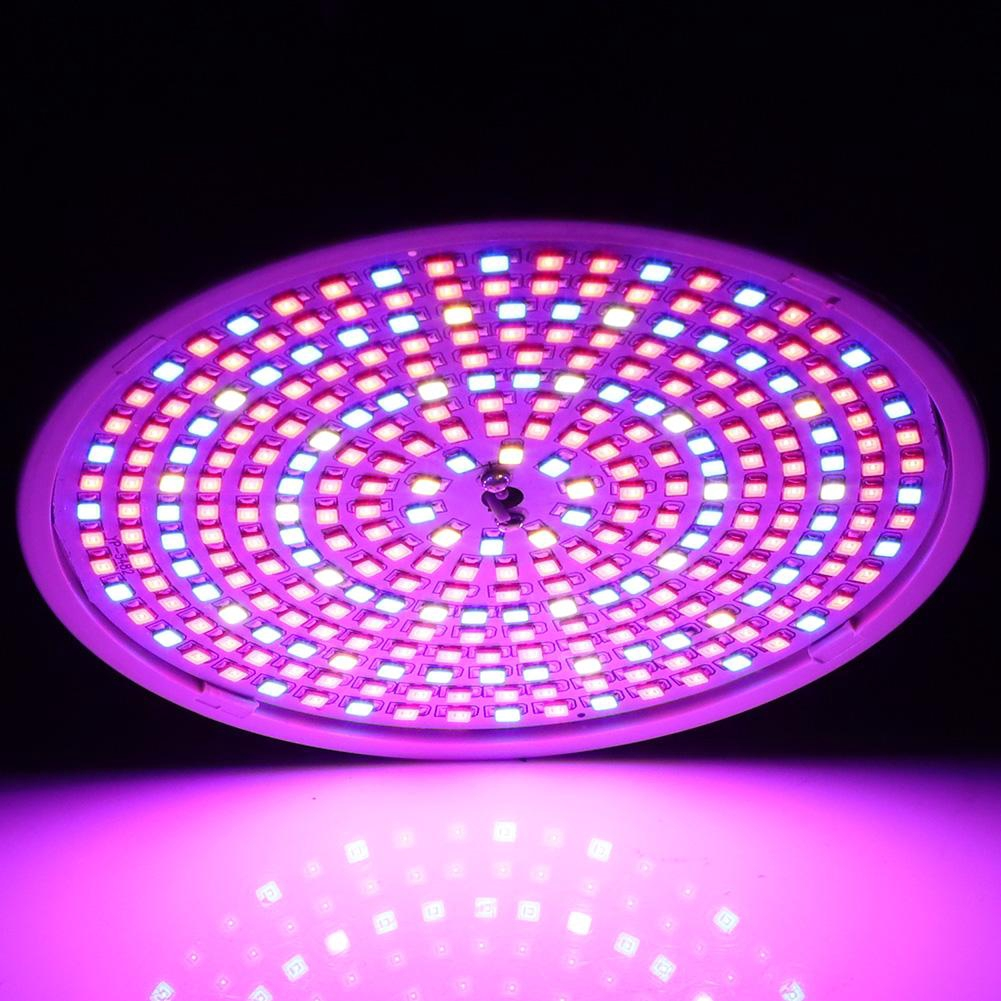 E27 200LED Hydroponic Plant Light Indoor Full Spectrum Grow Lamp With Clip GA