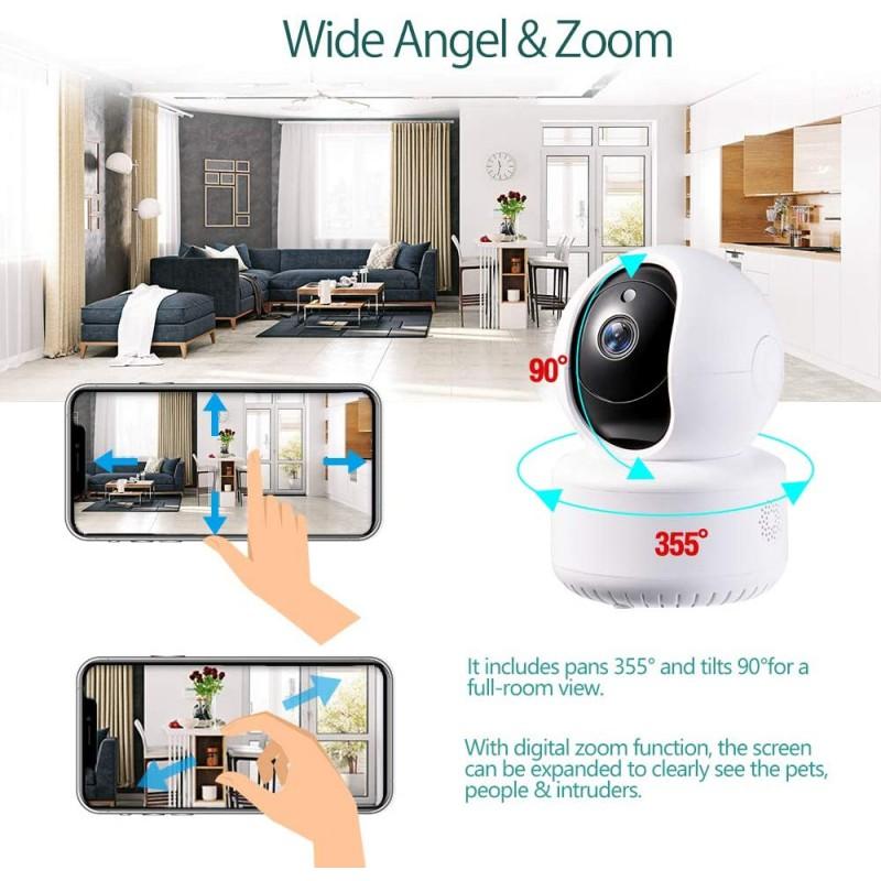 VisionKids Smart Cloud WIFI Camera 2 megapixel 1080 FHD 2 way Audio IP Camera Smart Video Baby Monitor tracking CCTV