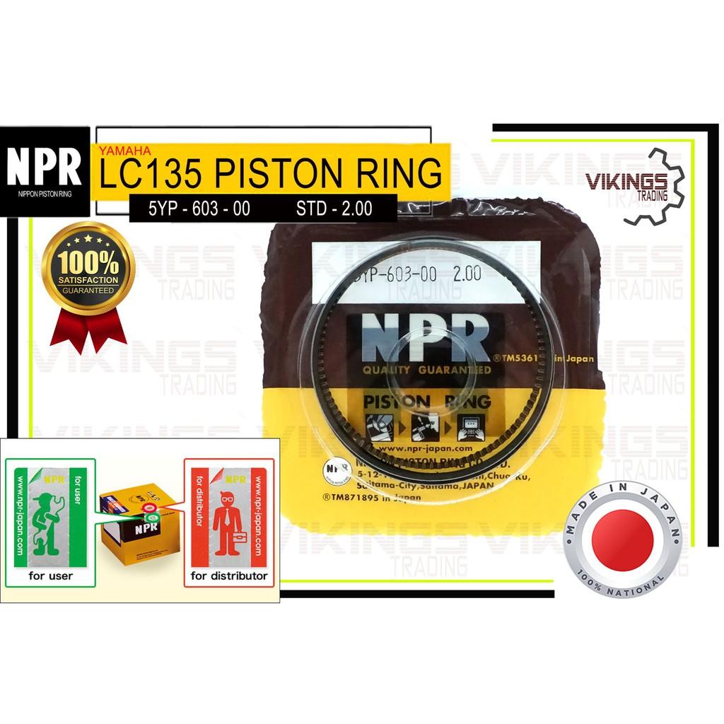 LC135 STD-200 JAPAN NPR PISTON RING (NPR) COMFIRM ORIGINAL AUTHENTIC