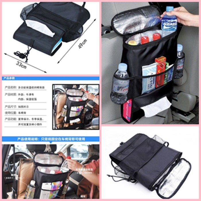 Car Organizer Car Accessories Car Back Seat Storage Bag Multi Pocket Organizer