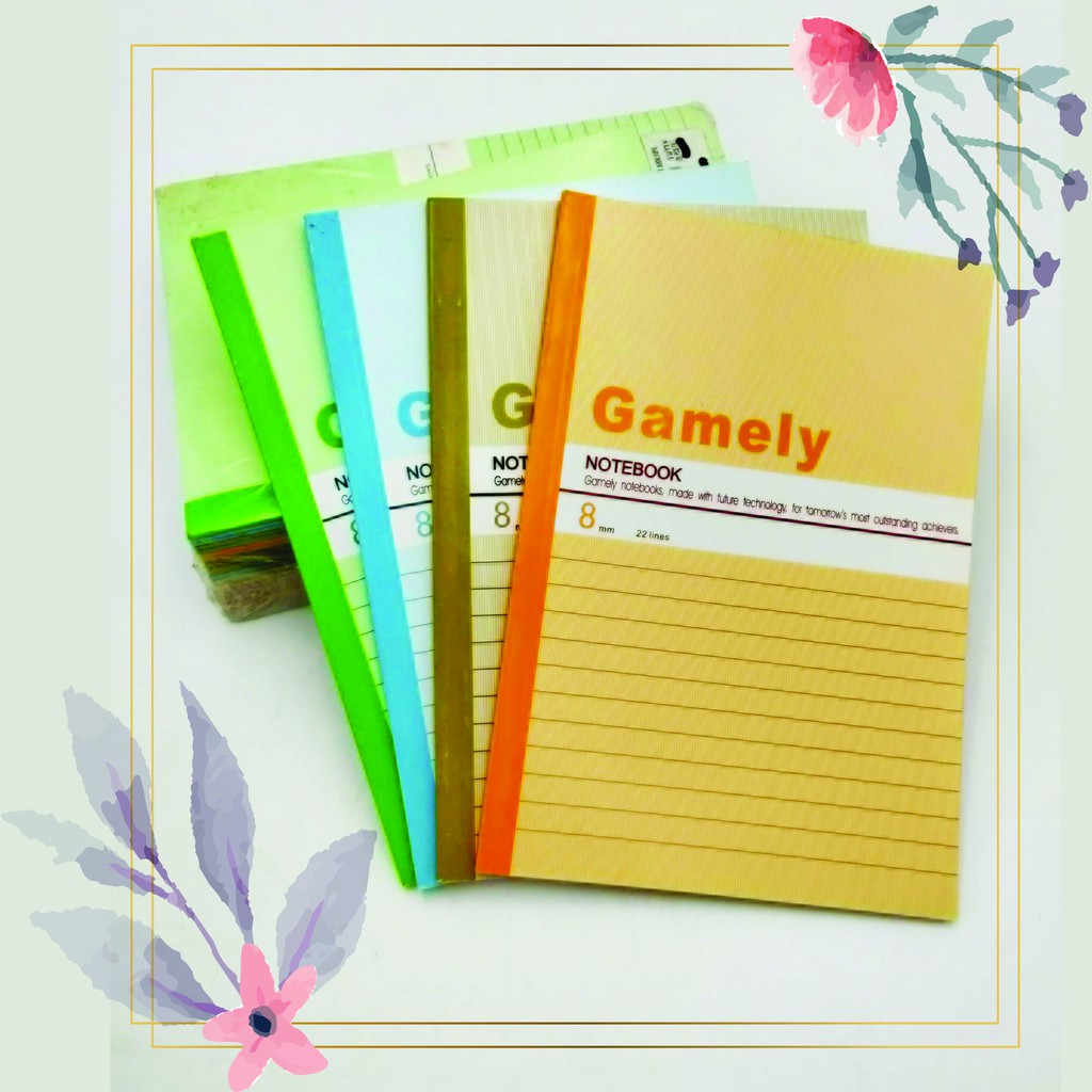 [READY STOCK] A5 Notebook 20 Present Pack/80 pages/FREE Paper Clip + Mechanical Pencil + Pencil Lead