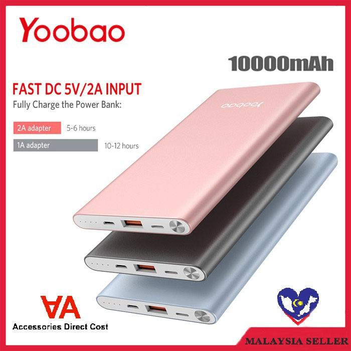 [READY STOCK]Original Yoobao PL10 Polymer 10000mAh Dual USB Port Power Bank