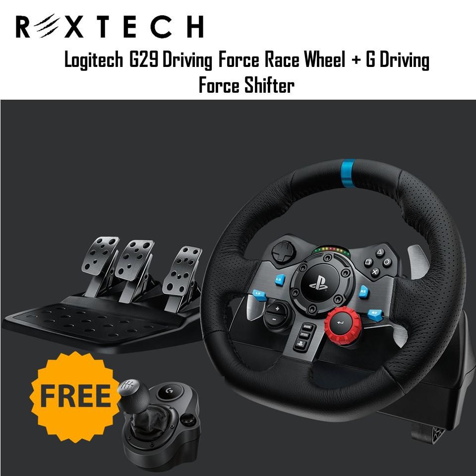 Logitech G29 Driving Force Race Wheel + G Driving Force Shifter