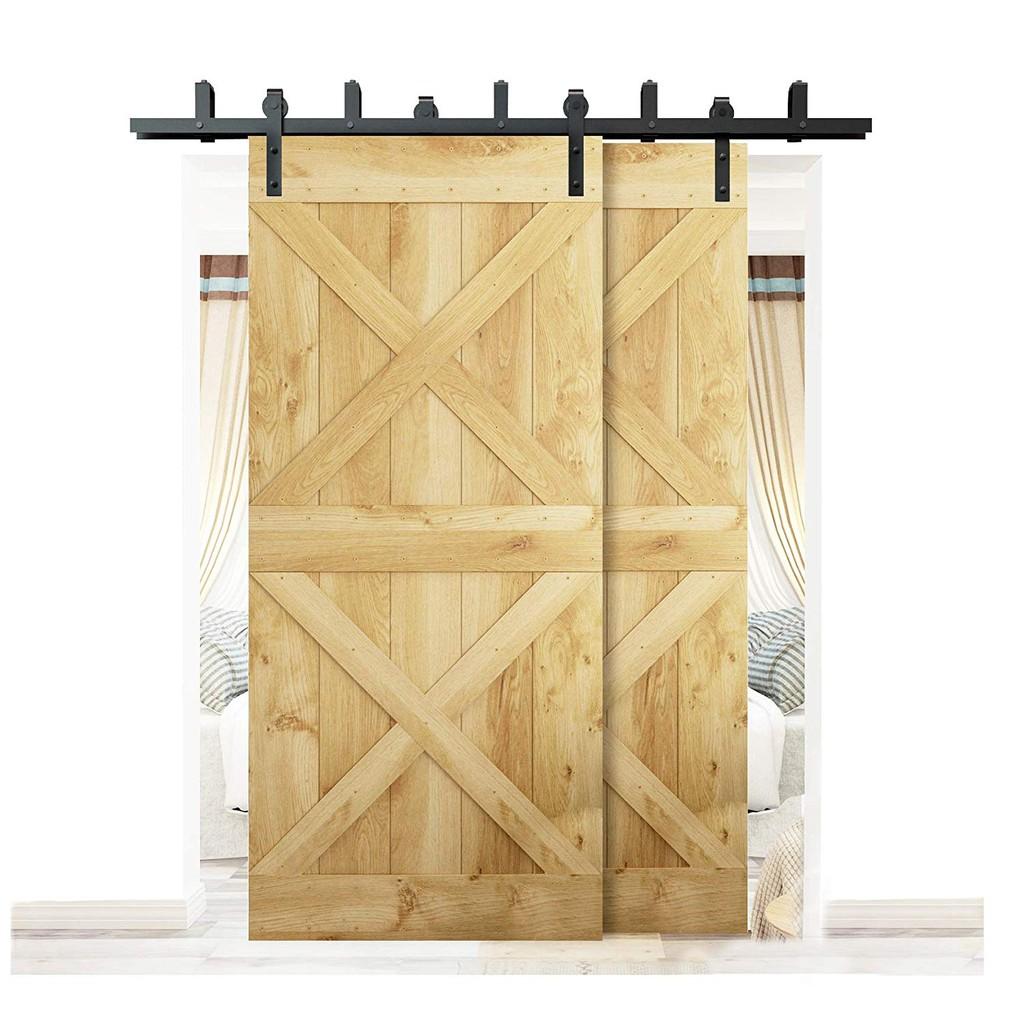 Black Door Hardware Sliding Wood Barn Door Roller Replacement Closet Bracket Kit