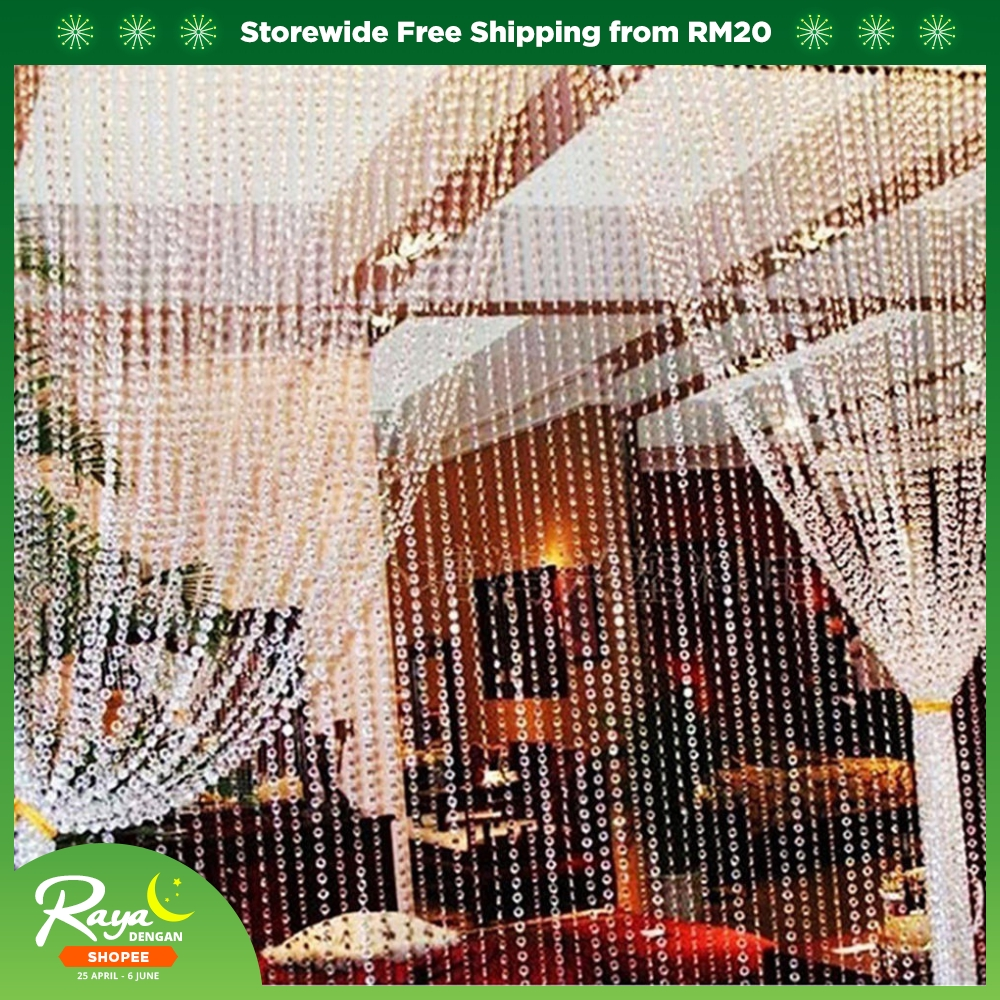ProductImage. ProductImage. 33FT/99FT Clear Glass Crystal Beaded String Hanging Curtain Fringe Divider