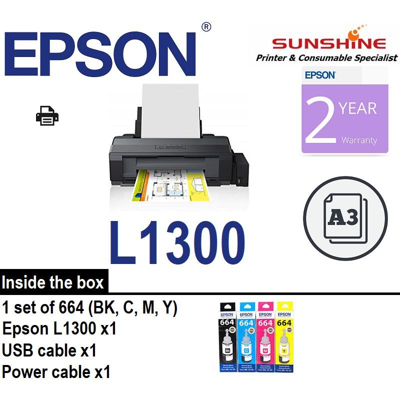 EPSON L1300 A3+ Color Printer Ink Tank (A3 CISS ix6770 ix6870)