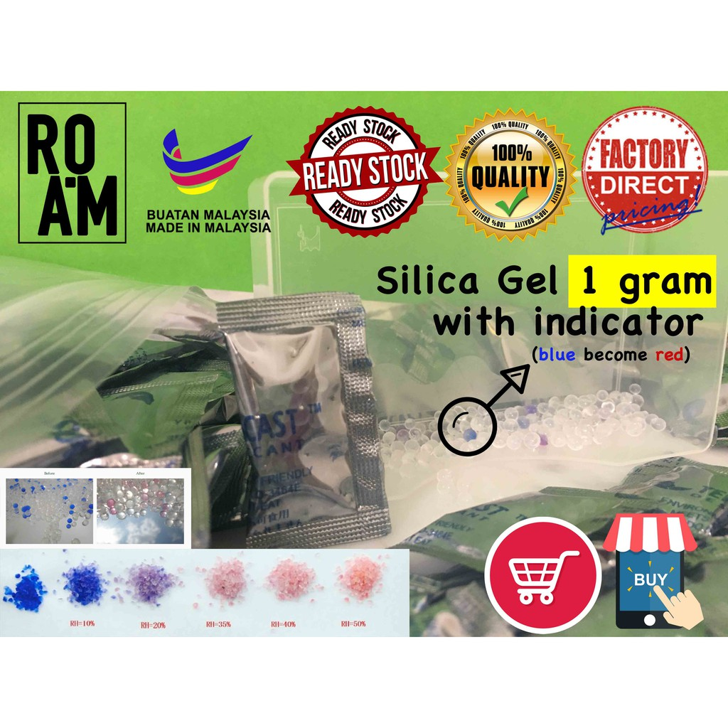 [Ready Stock] 100 pack Silica Gel Desiccant Abosrb water for shoes, fashion accesories, shirt, electronic item (1gram)