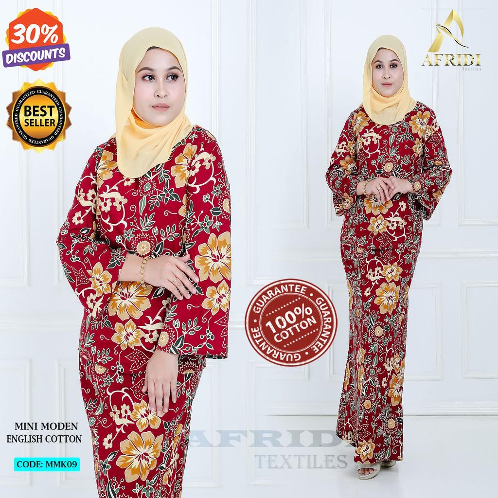 Baju Kurung Mini Moden Kurung Kedah Mmk09 English Cotton High Quality Shopee Malaysia